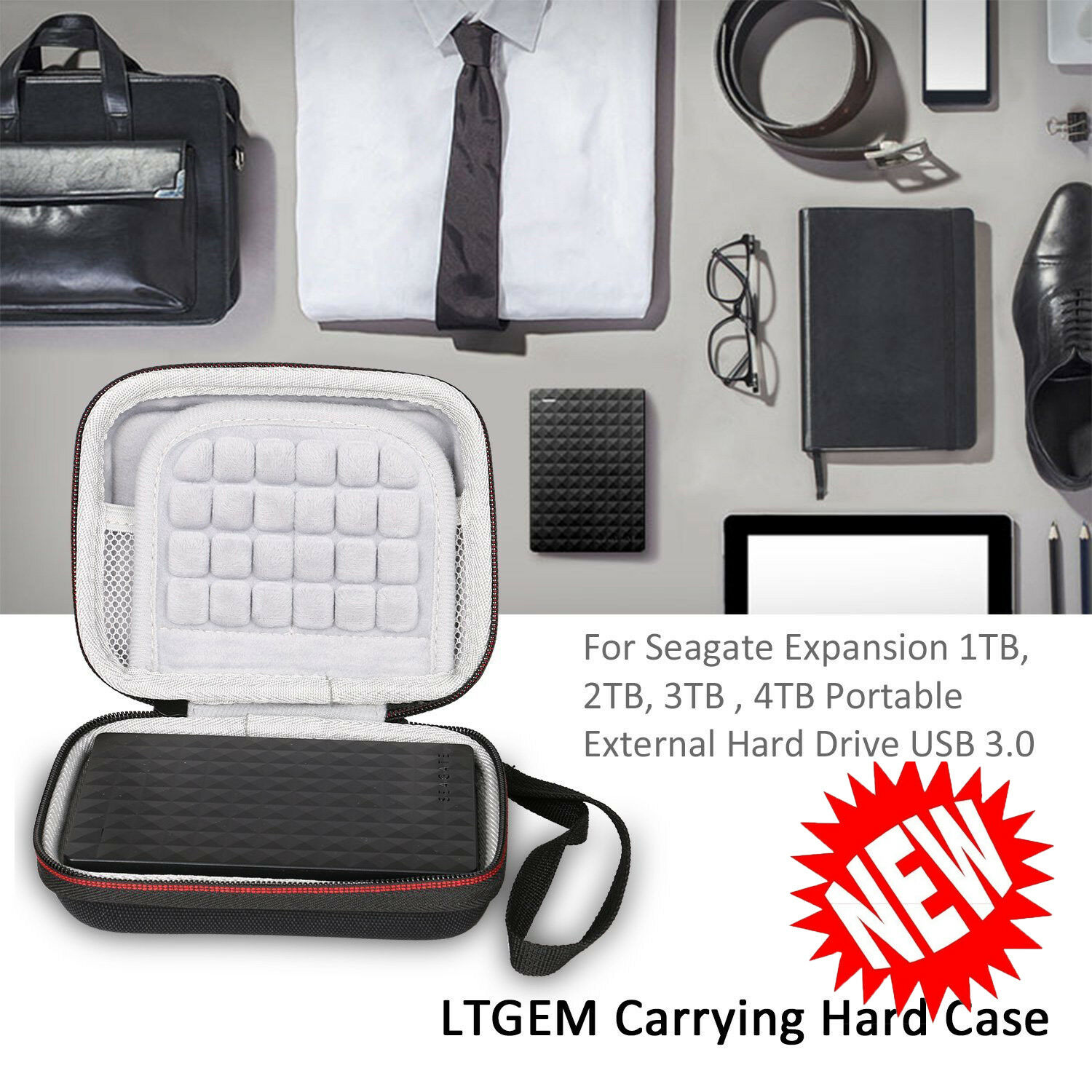 Ltgem Case For Seagate Expansion Wd My Passport Portable External 4tb Usb 30 Free Softcase Harddisk Norton Secured Powered By Verisign