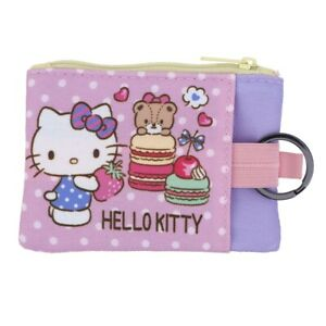 Sanrio-Hello-Kitty-Two-Zipper-Coin-Purse-Pouch-with-Key-Ring-9-7132-7