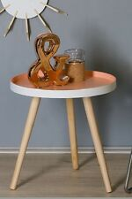 """Casablanca Design Tisch """"Teatime""""  Holz/ MDF weiss/aprikot H: 42 d: 41 cm(71459)"""