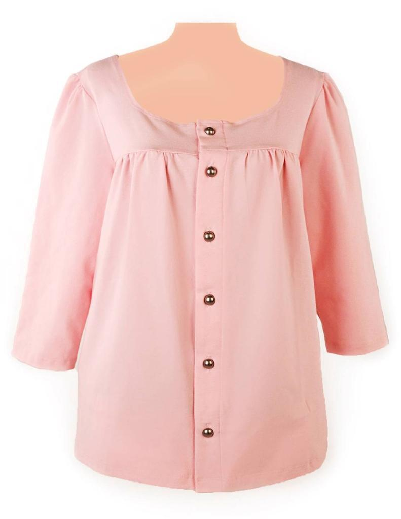 Post-op Top Dianne Long Sleeve Shirt for Breast Cancer & Augmentation Patients