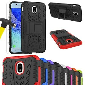 Heavy-Duty-Tough-Shockproof-Stand-Case-For-SAMSUNG-GALAXY-J3-J5-2017-amp-Tempered