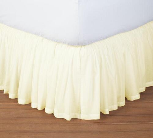 SPLIT CORNER RUFFLE BED SKIRT SOLID IVORY 650-TC COTTON US BED SIZE//DROP LENGTH