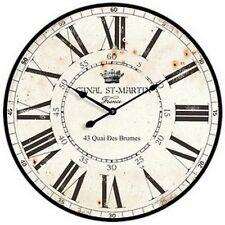 "Extra, Extra Large Retro Shabby Chic Wall Clock. 58cm Diameter (22"" +) 7070"