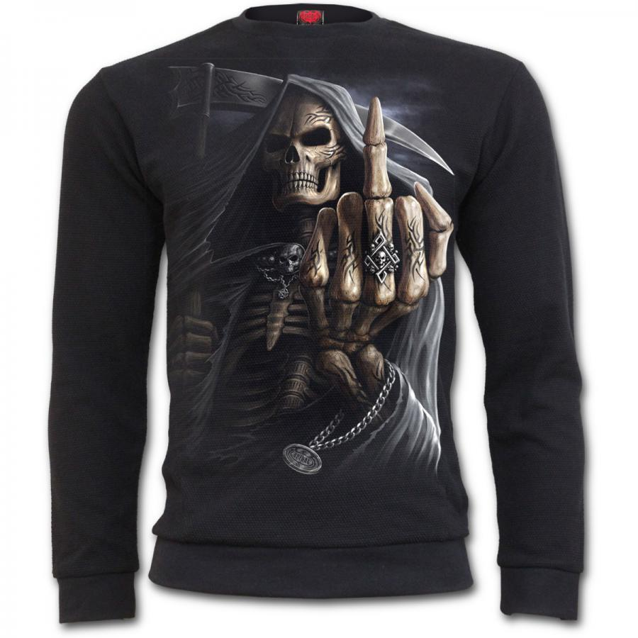 Jersey manica lunga sudore shirt middle Bone finger raised Spiral