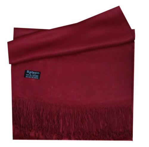 New Silky Feel Pashmina Shawl Scarf Wrap Beautiful Colours