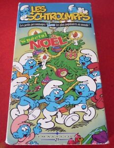 VHS-French-Movie-Les-Schtroumpfs-Special-Noel-Smurfs