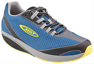 007bcbf60535 New MBT Mahuta Mens Athletic Toning Walking Rocker Shoes Blue Sz 45 ...