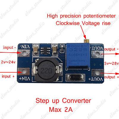 DC-DC USB 2~24V to 5~28V 2A Boost Step Up Adjustable Regulator Power ModulYJCA