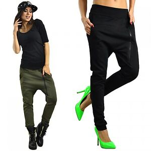 capri moda women 39 s harem trousers pants treggings. Black Bedroom Furniture Sets. Home Design Ideas
