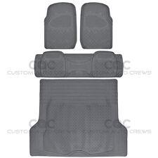 Gray Rubber Floor Mats For Car Suv With Cargo Mat 4 Piece Full Set Max Duty Fits 2003 Honda Pilot