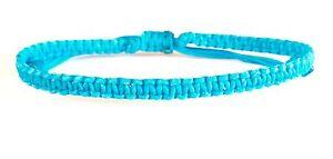 Classic-Blue-Wax-Cotton-Cord-Thai-Buddhist-Wristband-Handcrafted-Wristwear