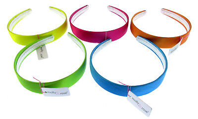 """1 """" Wide Satin Hair Band Various Colours"""