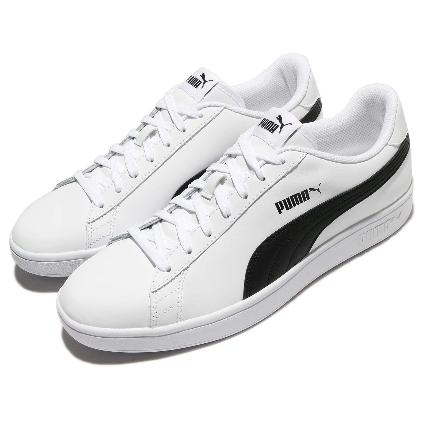 Puma Smash V2 L White Black Classic Men shoes Sneakers Trainers 365215-01