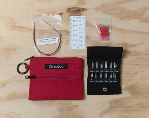 ChiaoGoo Needles Shorties Set red//blue lace 5cm /& 8cm