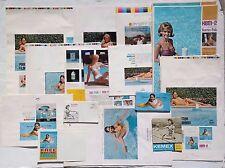 Vintage Lot Of 1950-1970s Swimming Pool Chem Lab Pics Ad's / Printer Proofs