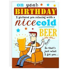 Image Is Loading Male Birthday Card Funny Humour Joke Greetings Beer