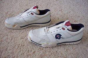 super popular 55266 f59a8 Image is loading Vintage-Chicago-Bears-Tennis-Shoes-Low-Men-8-