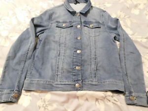 NWT/NWOT Buffalo David Bitton Knit Stretch Denim Jean Jacket Women's Sz. XL