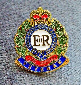 ROYAL-ENGINEERS-VETERAN-lapel-enamel-pin-badge-UK-British-Armed-Forces-Poppy-Day