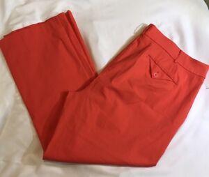 6a0d6cca33873 Lane Bryant NWOT Women s Pants Sz 26 Reg Career Office Dress Orange ...