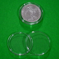 10 - SILVER DOLLAR 38mm Direct Fit Coin Capsules Airtite Size H38