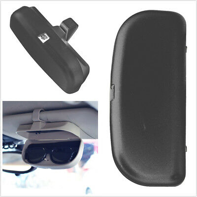 Car Vehicle Sun Visor Sunglasses Eyeglasses Glasses Holder Case with Clips Gray