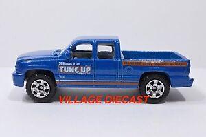 "2010 Matchbox ""Service Center"" Chevrolet® Silverado™ SS™ BLUE METALLIC/MINT"