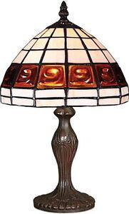 STYLE-TIFFANY-UNIQUES-Verre-Teinte-LAMPE-BUREAU-TABLE-8-039-039-large-abat-jour