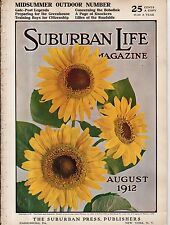 1912 Suburban Life August - Houses in Brielle NJ and Eugene OR; Ancona Chickens