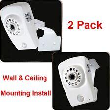 2x Baby Monitor Wireless HD Wi-Fi IP Security Camera SD Card Record Audio IR 1FL