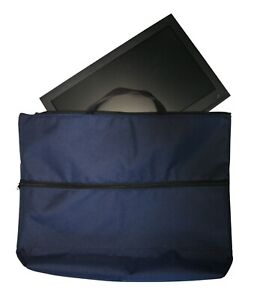 Fleece-lined-22-034-Caravan-Camping-TV-Monitor-Storage-amp-Carry-Bag-Case-in-Blue