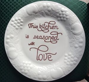 This Kitchen Is Seasoned With Love Decorative Plate Wall Decor Ebay