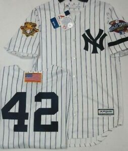 71fec1e68 MARIANO RIVERA YANKEES MENS HOME 2001 WORLD SERIES COOL BASE JERSEY ...
