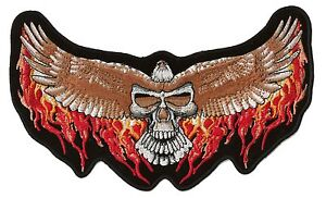 toppa-dorsale-distintivo-ricamato-schiena-grande-taglia-biker-Aquila-del-faro