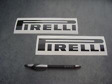 2x stickers Auto Moto PIRELLI Noir 19cm decals pegatinas aufkleber A55-070
