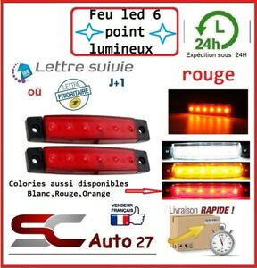 Feu led Auto,Moto,Camion,Remorque,Caravane où de gabarit 12 volt X2 pcs rouge