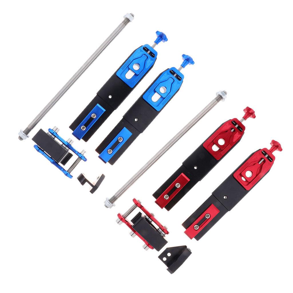 2-Piece CNC  Aluminum Rear Fork Extension Devices, Scooter Swingarm Extension  unique shape