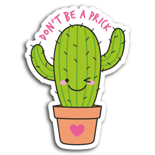 Sticker Laptop Luggage #19413 2 x 10cm Funny Rude Cactus Joke Vinyl Stickers