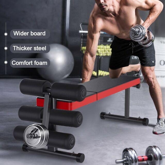 Xmark Fitness 10 Position Adjustable Decline Abdominal Bench Xm 4380 White For Sale Online Ebay