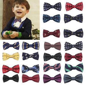 Enfant-Enfants-Bebe-Garcons-N-ud-Papillon-Ecole-Fete-de-mariage-de-Noel-formelle-Pageant-Cravate-UK