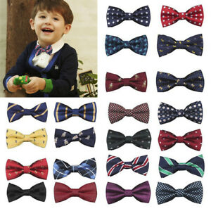 Child-Kids-Baby-Boys-Bow-Tie-School-Wedding-Party-Xmas-Formal-Pageant-Necktie-UK