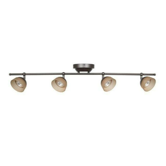 4 Light Rubbed Bronze Led Fixed Track