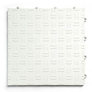 GarageTrac in WHITE- Pack of 24- Diamond Garage & Shop Flooring -MADE IN THE USA