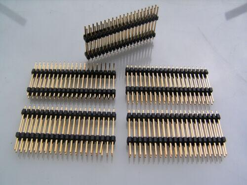 Encabezado de Pin Enchufe 2.54mm Pitch Doble Fila Doble Aislador 40 vías de BB6J 5 un MBD023c