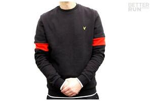 Lyle-amp-Scott-Pullover-Tipped-Crew-Neck-Sweatshirt-True-Black