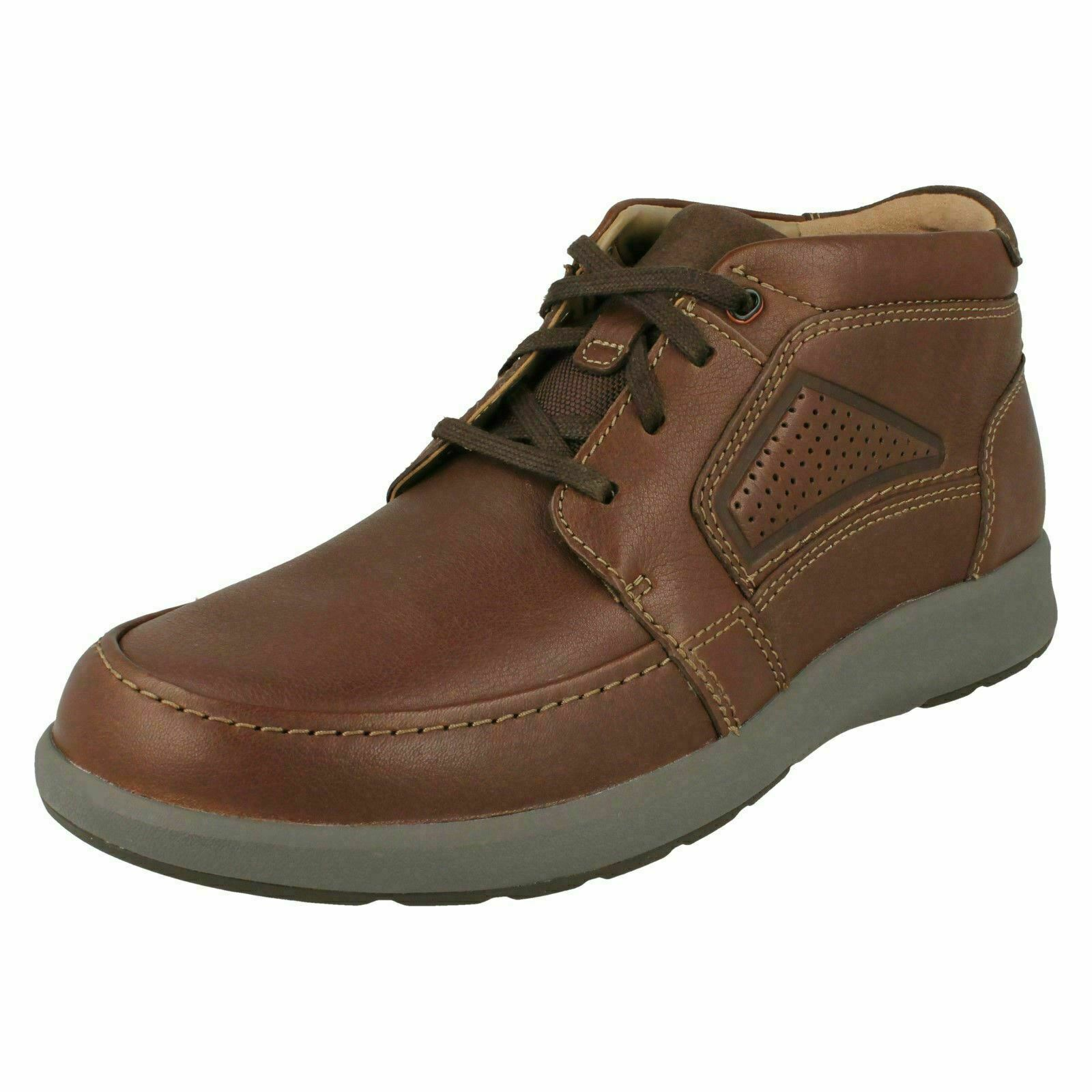 Mens Clarks Unstructurot 'Un Trail Limit' Leather Casual Lace Up Stiefel G Fitting