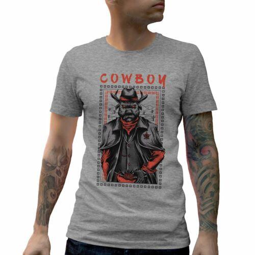 Cowboy Warrior Mens T-Shirt American V-Neck Tank Top Vest Tshirt D735