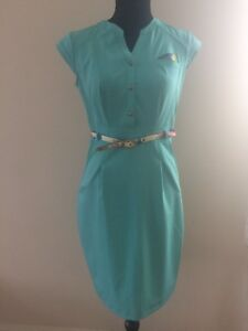 New-European-Women-Pencil-Short-Sleeve-Dress-size-6