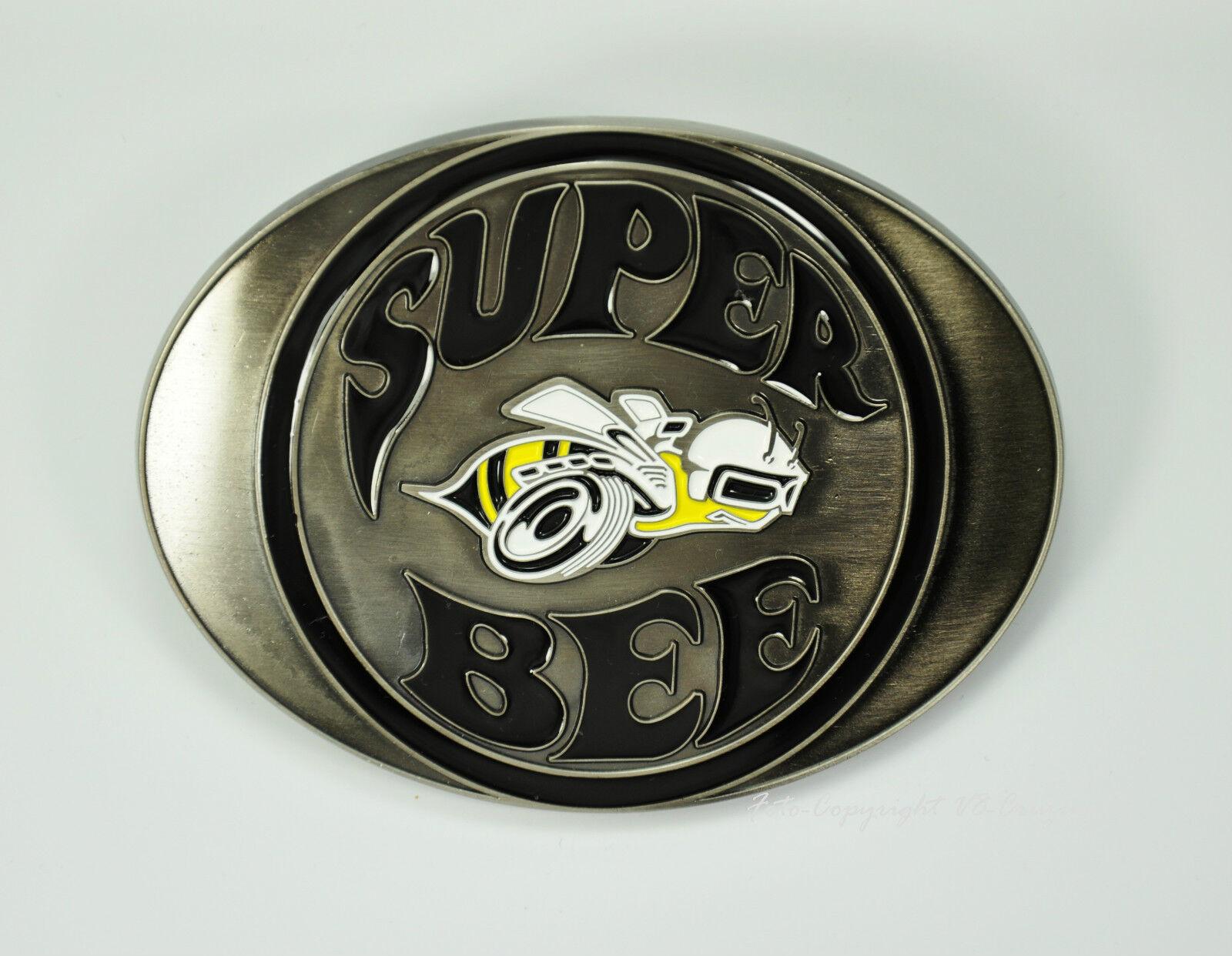 DODGE Super Bee Muscle Car Belt Buckle Lizenz Gürtelschnalle Mopar *604