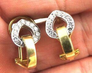 Gorgeous-Designer-18k-Gold-4ct-VS-Diamond-Huggie-Omega-Back-Earrings-5-9gm